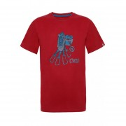 Polera Hombre Lippi Climb Cotton T-Shirt Rojo - Oscuro
