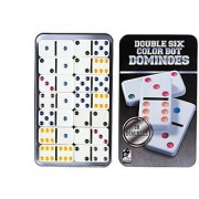 Dominos Set AOQING Double 6 Color Dot Dominoes Set of 28 Dominos Game