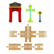 Chuggington Lemn - Set sine cu arcada, 9 piese