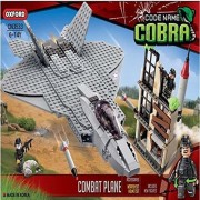Oxford Code Name Cobra Combat Plane Military Army Lego Style Building Construction Set