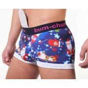 Bum-Chums Christmas Hipster Boxer Brief Underwear Blue