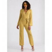 CheapChic Wrap Your Head Around It Tied Jumpsuit Mustard