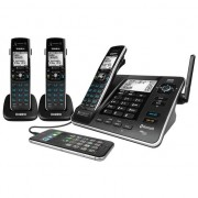 Uniden XDECT8355+2 Triple Handset Digital Cordless Phone System Bluetooth