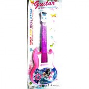 FROZEN Plastic Music Light Guitar (Size- 39 cm x 4 cm x 15 cm)