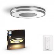 Philips HUE White Ambiance 32610/48 / P6 Being stropní LED svítidlo 32W / 2400lm 2200-6500K LED + SWITCH hliník Bluetooth