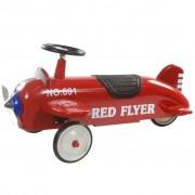 Retro Roller детска кола за бутане във формата на самолет, цвят червен