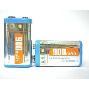 Acumulatori baterii reincarcabile 9V 900mAh Li-Ion