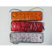 Lampa laterala 12 LED-uri, 24V, lumina alba