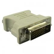 Adaptador DVI macho de 24+1 pinos para VGA fêmea de 15 pinos