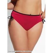 Rosa bikinitrosa med snörning vid höften