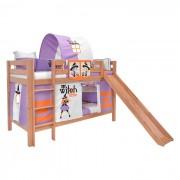 Dečiji krevet na sprat sa toboganomMark Tobogan Natur Little Witch
