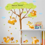 TipTop Wall Stickers Squirrel House Mönster