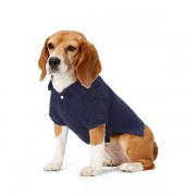 Ralph Lauren Pet Big Pony Mesh Dog Polo Shirt - French Navy - Size: Small
