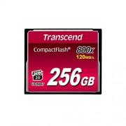 Transcend TS256GCF800 Premium 256 GB CompactFlash, 120 MB/s Read, 60 MB/s Write, 1 Card, 800x Memory Speed