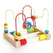 Montessori Enfants Classique En Bois Doux Perles Labyrinthe Jouet Coloré Perles Début Éducatifs Jouets Mathématiques Cadeaux Bébé Enfant D'âge Préscolaire