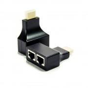 Adapter HDMI na 2xRJ45 M/2xŽ ekstender pasivni M/TMDS + DDC, 2kom
