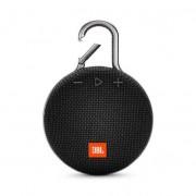 JBL Clip 3 - водоустойчив безжичен портативен спийкър (с карабинер) с микрофон за мобилни устройства (черен)