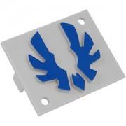 Emblema albastra Bitfenix pentru carcasa Shinobi