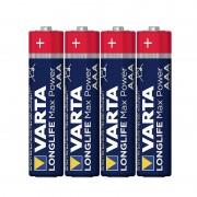 Set baterii alcaline LR03 Max Power Varta, 4 bucati