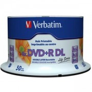 DVD+R Verbatim Dual Layer White Inkjet Printable 240мин./8.5Gb 8X (Printable) - 50 бр. в шпиндел