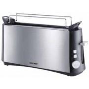 Cloer 3810 - Grille-pain - 2 tranche(s) - noir/inox mat
