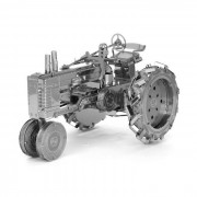Modelo de rompecabezas de bricolaje 3D montado juguetes educativos tractor - plata