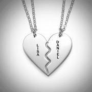 Personalized Men's Jewelry Personalized Sterling Silver Breakable Heart Necklace 110-01-131-02
