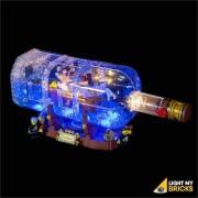 LIGHT MY BRICKS Kit for 21313 LEGO Ship in a Bottle