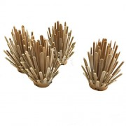 Lego Parts: Desert Plant - Prickly Bush 2 x 2 x 4 (Service Pack of 4 - Dark Tan)