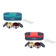 Carrolite Easy Carry 2 Black container Lunchbox Blue+Green Blue+Red Buy 1 get 1 Free