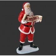 H-10008 Santa with Christmas Banner 5ft - Kerstman