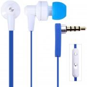 Audífonos Bluetooth Manos Llibres, Awei 710hi En El Oído Del Auricular Con Cable De 1,2 M De Control De Volumen Del Micrófono (azul Blanco)