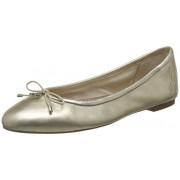Sam Edelman Women's Felicia Ballet Flat, Molten Gold Leather, 6.5 Wide US