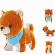 40CM Creative Simulation Super Cute Little Amuse Firewood Dog Plush Toys Baby Children Birthday Gift
