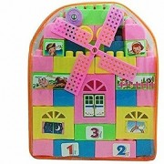 Nawani Kid's Assembling Blocks Puzzle Educational Toy Set for Kids Play Toy 47 Pieces (Multicolour)