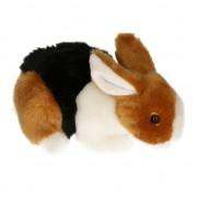 Semo Pluche knuffel konijn bruin/zwart/wit 20 cm