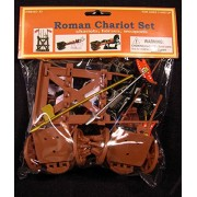Roman Chariot Set (2 Chariots, 2 Horses, Weapons) (Bagged) 1/32 Playsets