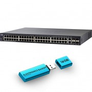 Cisco SG250X-48 48-Port Gigabit with 4-Port 10-Gigabit Smart Switch - SG250X-48-K9-NA