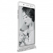Husa Samsung Galaxy Note 7 Fan Edition Ringke Slim FROST WHITE + Bonus folie Ringke Invisible Screen Defender