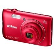 NIKON COOLPIX A300 Rood + 8GB SD-kaart + Tas