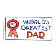 San Diego Gifts World's Greatest Dad Metal License Plates【ゴルフ その他のアクセサリー>ホーム/オフィス】