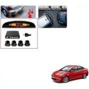 Auto Addict Car Black Reverse Parking Sensor With LED Display For Hyundai Fluidic Verna 4s