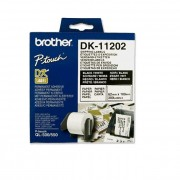 BROTHER DK Tape 62x100mm Black on White, 300 labels per roll (DK11202)