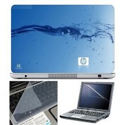 FineArts Laptop Skin 15.6 Inch With Key Guard & Screen Protector - HP Water Effect