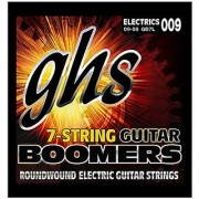 GHS Strings GB7L 7-String Guitar Boomers Nickel-Plated Electric Guitar Strings Extra Light (.009-.058)