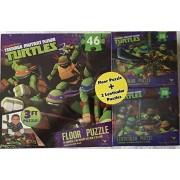 "Teenage Mutant Ninja Turtles 3 Ft Floor Puzzle Plus Two 9"" X 6"" Lenticular Puzzles By Cardinal Industries"