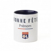 Olympique Lyonnais Mug personnalisable bonne fête OL - Foot Lyon