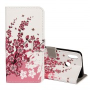 For Huawei P20 Lite Plum Blossom Pattern Horizontal Flip Leather Case with Holder & Card Slots & Wallet
