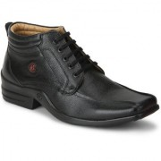 Red Chief Black Men Low Ankle Outdoor Casual Leather Shoes (RC1366A 001)