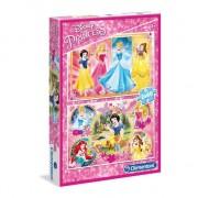 Puzzle Clementoni - Disney Princess, 2x60 piese (60734)